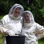 Father & Daughter keeping bees, beekeepers in Seabeck