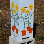 Painted Backyard Beehive