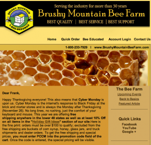 brushy mountain bee farm coupon