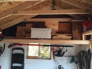 Loft in garden shed